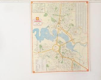 Vintage Canberra Map | Vintage Decor | Vintage Australia Map | Gift for him | Wall Art | Wall Decor | Industrial Decor | Rare Vintage Map