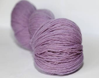 KAUNI Undyed Wool Yarn, Worsted Weight 8/3  3ply, 100% wool light purple
