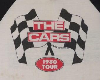 Vintage THE CARS 1980 tour T SHIRT original concert tee jersey