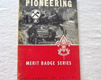 Vintage Pioneering Boy Scouts Of America 1942 Merit Badge Series