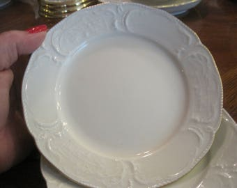 2 Rosenthal Group Classic Rose Bread Plates with Gold Trim