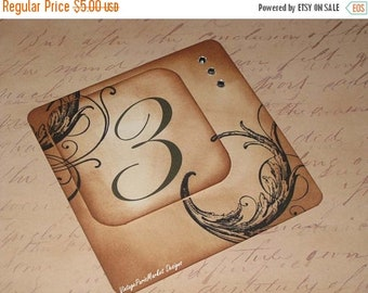 March Sale Vintage Style French Elegant Design Luxury Table Numbers/Names Wedding Original Design