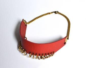Crimson Brass choker