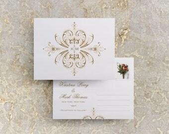Vintage Gold Wedding Invitations, Gold Monogram, Gold Wedding, Wedding Monogram, Gold Invite, Invitation Printable, Template