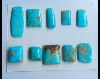 SALE,10 PCS Turquoise Gemstone Cabochons,21.5g