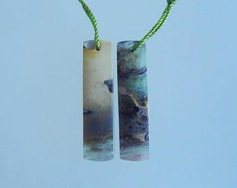 New,Rainbow Fluorite,Fashion Gemstone Women Earring Bead,32x8x3mm,3.95g