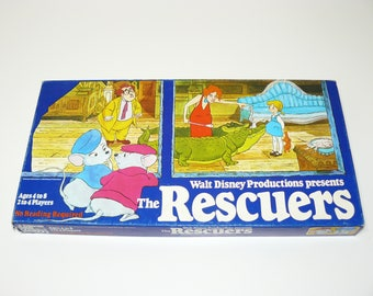 The Rescuers Board Game - Complete - Parker Brothers 1977 - Vintage Walt Disney Productions