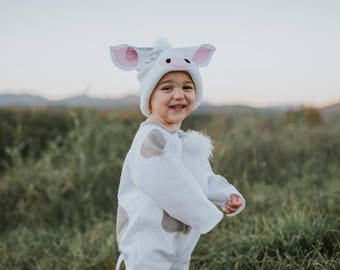 Pua Pig from Moana themed Halloween Costume (Newborn - 5T) or Cow  sc 1 st  Etsy & Pua pig costumes | Etsy