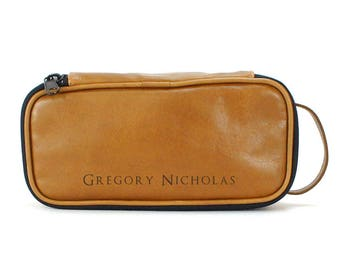 Hanging Dopp Kit - Groomsman Gift - Tan