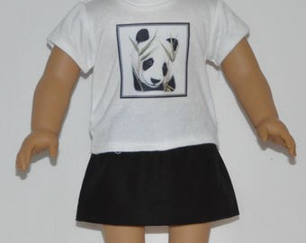 Cute Panda Skirt Set Doll Clothes Made To Fit 18 Inch American Girl Dolls