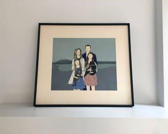 Personalised Family Portrait Custom Print