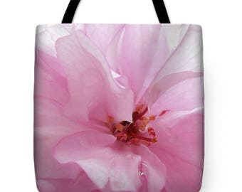 Pink Cherry Blossom Tote Bag, Patrushka Flower Totes, Grocery Tote Bag, Flower Tote Bag, Summer Tote Bag, Beach Tote Bag, FREE SHIPPING USA