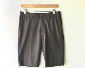 REVIVED Mens Vintage Gray Trouser Shorts // Waist