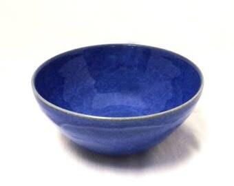 Ceramic Bowl in Bright Blue, Bright Blue Ceramic Serving Bowl, Soup Bowl, Cereal Bowl, Salad Bowl, Snack Bowl, Ceramic Bowls
