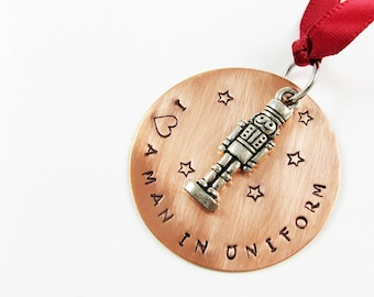 Tin Soldier Ornament - Funny Ornament for Romantic, Nostalgic, Christmas Ballet or Military Gift