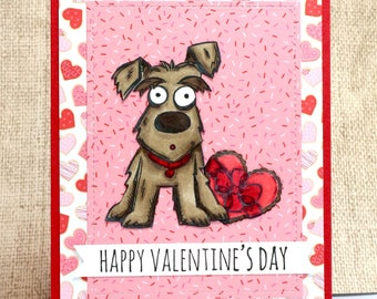 Funny Valentines Card- Dog Valentine's Day Card- Dog Lover Valentine- Happy Valentine's Day- Valentine Card