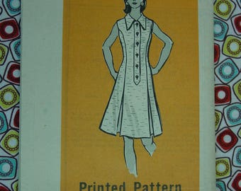 Vintage Pattern c.1960's Mail Order Printed No.9470 One Piece Dress, Size 12  Uncut