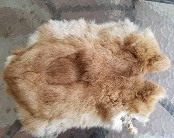 Rabbit Fur Pelt - Red - Craft Grade