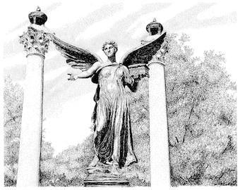 Beneficence Statue, Ball State University ,Muncie Indiana, Digital Download