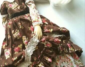 Ooak BJD Garden Party Dress SD