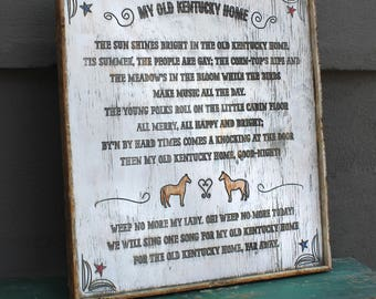 Old Kentucky Home Song Framed Wooden Wall Decor