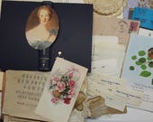 vintage junk journaling kit | vintage junk journal embellishments | DIY junk journal | vintage craft supplies | vintage junk journals