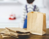 SALE! Handmade Miniature Playscale Brown Paper Grocery Bags