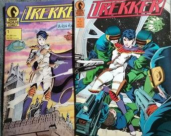 Trekker Dark Horse Comics Lot of 2 Issue #1 and #4 vintage 1987