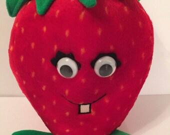 Vintage DEL MONTE 1988 Strawberry Country Yumkin plush Fruit