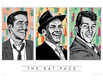 Rat Pack, Rat Pack poster, Rat Pack wall art, Rat Pack art print, Rat Pack art, Wall decor, Gift, Home decor, Sinatra, Frank Sinatra