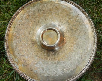 Vintage Silver Platter, Silver Serving Tray