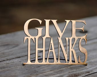 Give Thanks Metal Word Stand