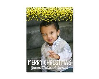 Confetti Christmas Photo Card