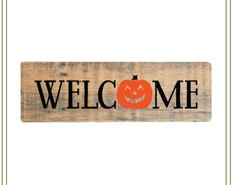 Halloween svg, pumpkin svg, halloween pumpkin,vinyl cutting, welcome svg, card making, svg file Halloween illustration, halloween sign