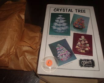vintage plastic crystal tree party candy hors d oeuvres holiday serving display jewelry flowers hostess