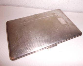 Vintage Art Deco Silver Plated Cigarette Case Antique Card Case 1930s