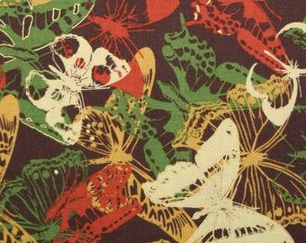 Indian Summer, Hoffman Fabrics, Butterflies on Brown