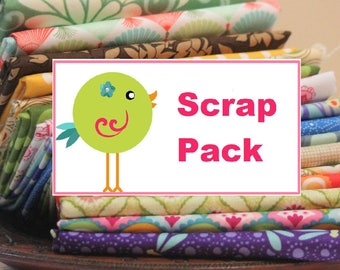 One Pound of Modern Fabric Scraps, About 3 Yards of Fabric, Quilting Fabric Scrap Pack,