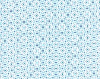 Kate Spain Voyage Fabric by the Yard, Porto in Cloud Blue, Moda Fabrics, 27287-13
