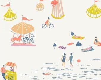 Seaside Carnival, Dear Stella Fabrics, Designed by Rae Ritchie, Multi Seaside Carnival, STELLA-SRR927