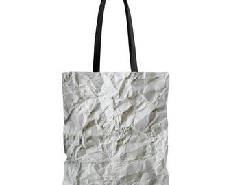 Scrunched Up Paper Tote Bag