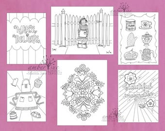 Matilda Jane Coloring Sheets | Make Believe