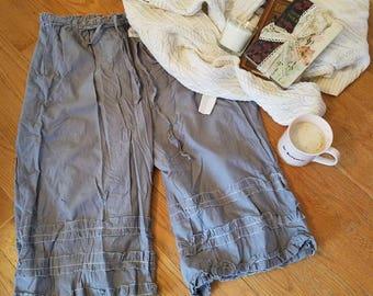 on the boardwalk narrow ruffled pantaloons