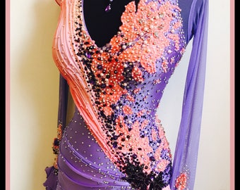 Dance Dress on sale!  Act Fast! Beautiful Lavender Dance gown    Smooth Dance Dresses  ballroom Dance Dresses