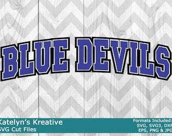 Blue Devils Arched SVG Files