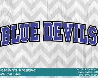 Blue Devils Arched SVG Files