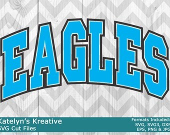 Eagles Arched SVG Files
