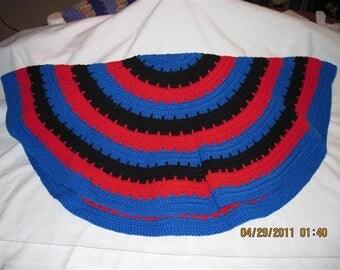 Circle of Love Laptop Blanket - Black,Red,Blue