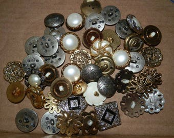 Lot of 45 Assorted Fancy Buttons...Lot 901