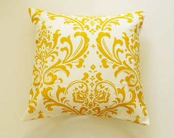 Pillow Cover, Yellow Pillow Cushion, Choose Your Cushion Cover, Pillow Covers Decorative Yellow, Throw Pillow, Accent Pillow Cover,